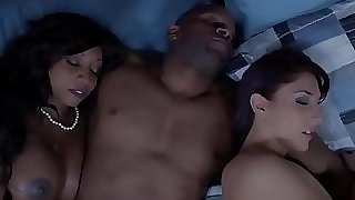 Black housewife and pal cum exchanging