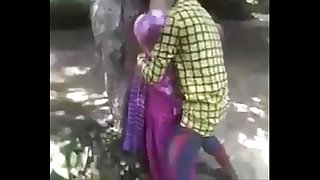 Desi teen enjoying poking in jungle
